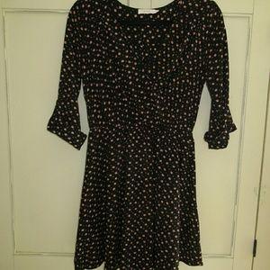 LUSH FLORAL FAUX WRAP DRESS